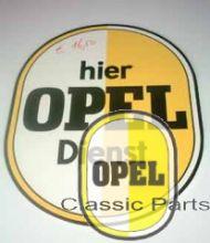 """Opel Zeichen Schild Ei Motiv """"Hier Opel Dienst"""""""
