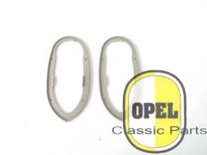 Rubber achterlichtglas set L+R Rekord 1955-56