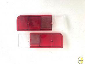Rücklichtglas Rot/Rot/Weiß Satz L+R Kadett C 1973-78