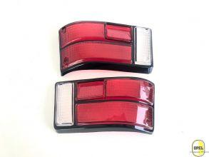 Rücklichtglas Orange/Rot/Weiß Schwarz Satz L+R Kadett B Olympia A 1967-72