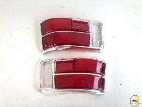 Rücklichtglas Rot/Rot/Weiß  Satz L+R Kadett B Olympia A 1967-72