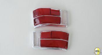 Taillight glass orange/red/white black set L+R Kadett B Olympia A 1967-72