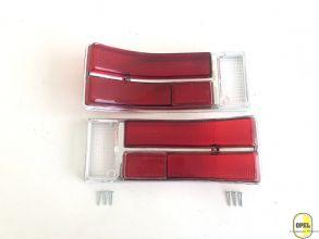 Rücklichtglas Rot/Rot/Weiß Satz Rekord C/Commodore A 1967-71