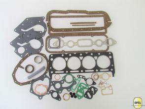 Engine gasket set including carburetor gasket set Rekord P1/P2 1959-62 1.7L